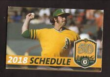 Catfish Hunter--2018 Oakland Athletics Pocket Schedule--KAHI