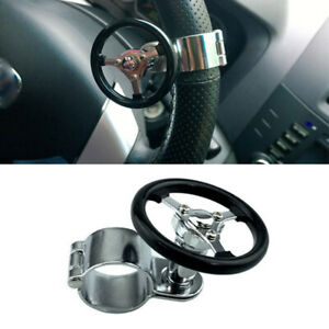 Black Booster Quick Steering Wheel Ball Suicide Knob Power Spinner for Cars Boat