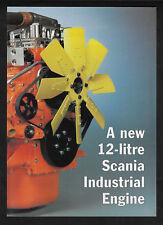 SCANIA DSC12 & DS112 INDUSTRIAL 12-LITRE DIESEL ENGINE 4 PAGE BROCHURE 09-97