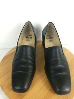 Women's black leather high-end European Relax Ara Flex size 8 shoes