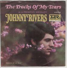 "JOHNNY RIVERS THE TRACKS OF MY TEARS/REWIND MEDLEY 7"" 45 GIRI"