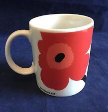 Beautiful Marimekko Unikko Red Flower Coffee Mug Tea Cup - FREE SHIP