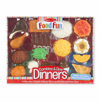 Melissa and Doug  FOOD FUN  COMBINE & AND DINE DINNERS 17pcs #8267