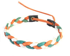 Leather Look Braided Wristband Roll34 Bracelet Irish Tri color St.Patrick's Day