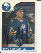 Signed Dave Andreychuk Buffalo Sabres 85-86 O-PEE- CHEE  Hockey Card #143 w/COA