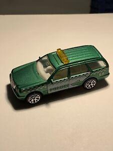 Matchbox #34 Mercedes-Benz E 420 Polizei Police Green 1999 Cast