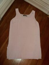 SALE.  ping pong coconut ice pink long stretch rayon  cotton knit tunic top