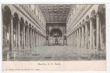 Basilica St Paolo Paul Interior Rome Italy 1905c postcard