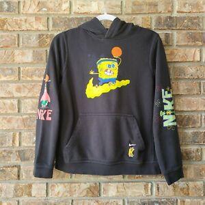 Nike Kyrie Irving x Spongebob Squarepants Youth Large Black Hoodie Sweatshirt