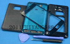 New black housing cover glass + lens screen for samsung galaxy s2 II gt-i9100