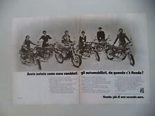 advertising Pubblicità 1975 MOTO HONDA CB 350/400/500/750 FOUR
