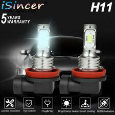 2PACK H11 LED Headlight Super Bright Bulb Kit 330000LM HIGH/LOW Beam 6000K White