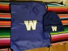 Winnipeg Blue Bombers Lot 2 Pieces Toque and Drawstring Bag Look New