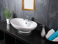 Keramik Waschschale Aufsatzwaschbecken Waschtisch Badezimmer Waschplatz Armatur