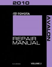 2010 Toyota Avalon Shop Service Repair Manual Volume 2 Only