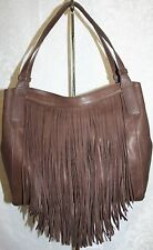 FRYE RAY FRINGE SHOULDER DARK BROWN LEATHER 34DB423-DBN