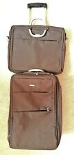 LEXON AIRLINE LOT 4 BAGAGES VALISES 3 TROLLEY 1 PORTE DOCUMENTS BAGS LUGGAGE