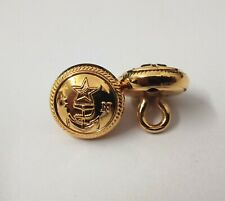 Genuine Military Issue X2 Navy GN Insignia Gold Ring Back Naval Buttons V949