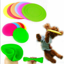 1xSilicone Pet Dog Flying Saucer Disc Frisbee Toy for  Exercise Training Tool bs
