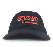 Kawasaki Rev It Up 2006 Dealer Meeting Black Baseball Cap Hat Adj Adult Cotton