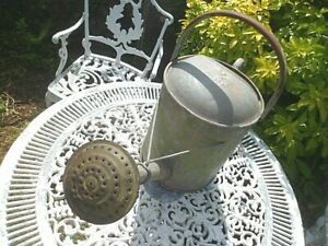 Vintage Beldray 2 gallon Galvanized Metal  Watering Can with Rose  .