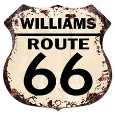 BPHR0003 WILLIAMS ROUTE 66 Shield Rustic Chic Sign  MAN CAVE Funny Decor Gift