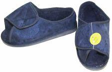 Unisex  Wide Fit warm Lined Open Toe Navy Blue Slippers Shoe size uk 11  cc 1.1