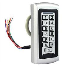 Waterproof Metal Keypad Door Access Controller Anti-theft Alarm Safety Security