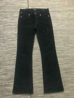 Citizens of Humanity COH Amber Medium Rise Bootcut Jeans Sz 27 Corduroy Black