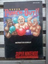 SNES Super Punch-out!! instruction booklet -(manual only/no game)-