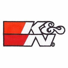 K&N Logo Adhesive / Sew-On Patch - White - 108 x 44mm