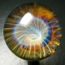 "Boomwire - 1.25"" Glass marble - lampwork boro handmade contemporary art orb SRA"