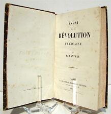 LANFREY (Pierre). Essai sur la Révolution française - 1858