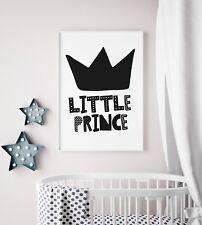 Little Prince Boys Bedroom Print Scandinavian Style Nursery Print Black / White
