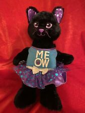 New ListingBuild A Bear Bab Starry Night Black Cat Plush & Dress Purple & Silver Stars Euc