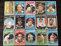 ⚾️1959 Topps Baseball Cards Philadelphia Phillies Lot Of 15 Ted Kazanski⚾️