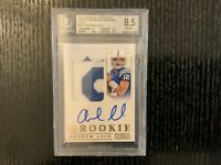 2012 National Treasures ANDREW LUCK RC RPA Patch Auto Gold/49 BGS 8.5