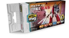 Ammo Mig Jimenez  Metallic Mechas Color Set # 7158