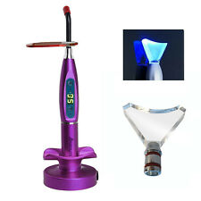 Dental LED Curing&Whitening Light Lamp Wireless 5W 1500mw Blue Light Purple