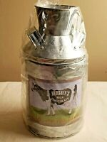 "New Old Stock 2001 Hershey's Milk Chocolate Metal ""Tin Box"" Collectible MILK CAN"