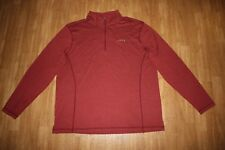 Orvis 1/4 Zip Pullover Long Sleeve Shirt Mens Large Lightweight Red Burgundy