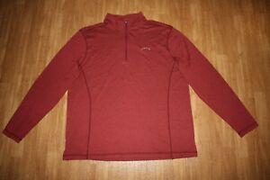 Orvis 1/4 Zip Pullover Long Sleeve Shirt Mens Large Lightweight Red Burgundy