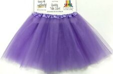 Adult 4 Layer Lilac Purple Tulle Skirt 80's Dance Tutu Hen's Party Costume