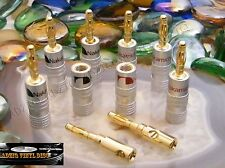 ♫ 4 PAIRES FICHES BANANES  NAKAMICHI GOLD 24 K  HIGH DÉFINITION ♫