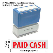 JYP PA1040 Rectangle Stock Pre-Inked Rubber Stamp with