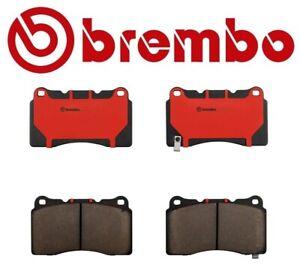 Front Ceramic Slotted Brake Pads Set Brembo For Lancer Evo Impreza WRX STI BRZ