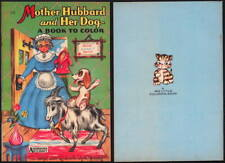 """1950's - 1960's Rare Unused Big Little Coloring Book - Mother Hubbard """"NOS"""""""