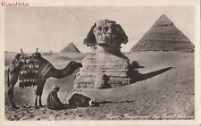 Postcard RPPC Prayer Near Great Sphinx Cairo Egypt