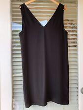 Grana LBD Black 100% Silk Dress M/10