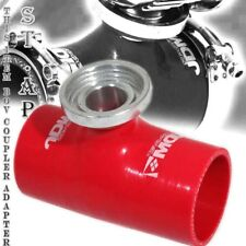 """Jdm Sport Turbo Blow Off Valve Bov 3"""" Inch Reinforce Silicone Adapter Pipe Red"""